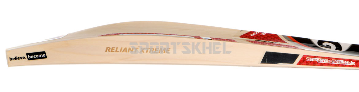 SG Reliant Xtreme English Willow Bat Side View