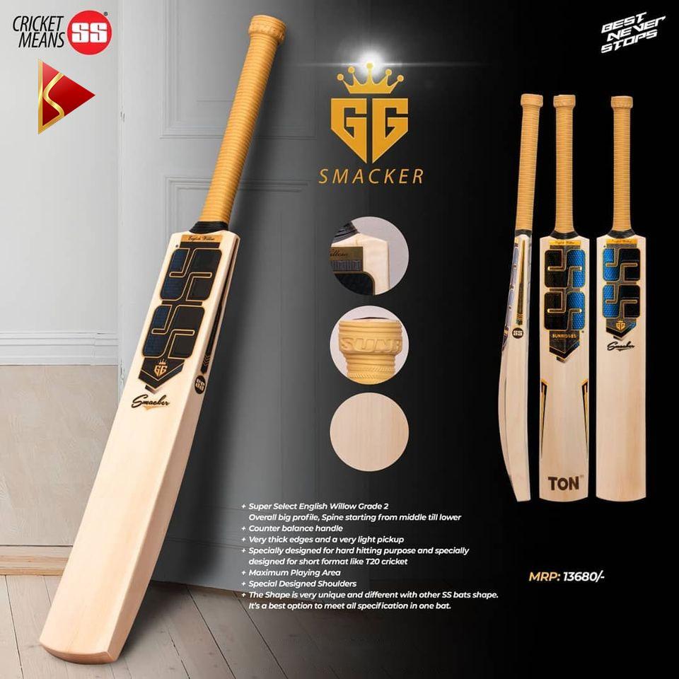 SS GG Smacker English Willow Cricket Bat Features