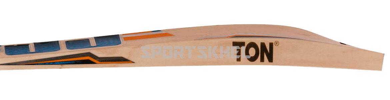 SS Orange English Willow Cricket Bat Size Men Side View