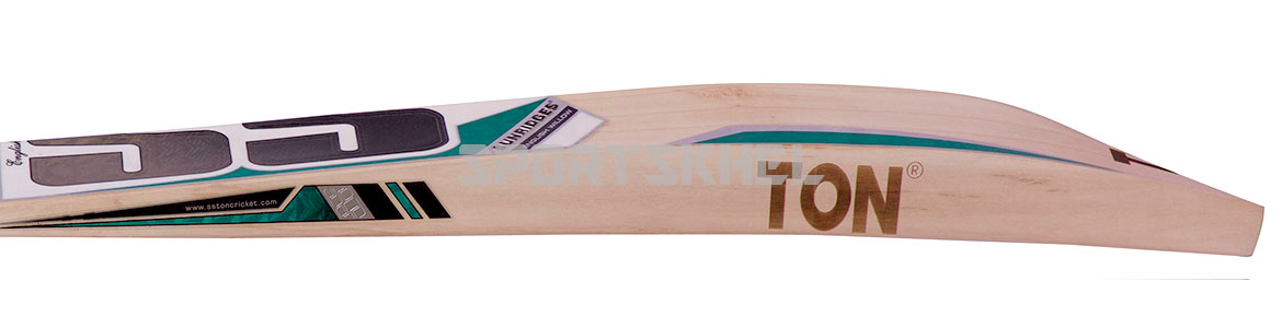 SS White Edition Green English Willow Cricket Bat Size Men Side View