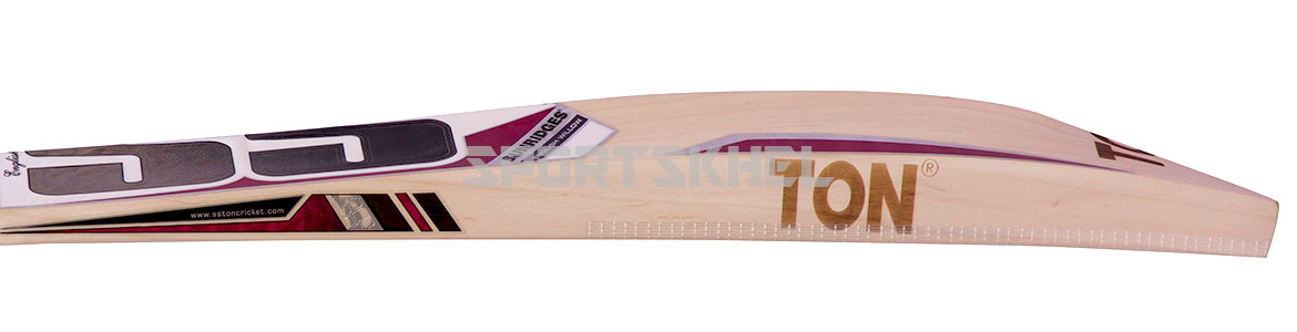 SS White Edition Pink English Willow Cricket Bat Size Men Side View