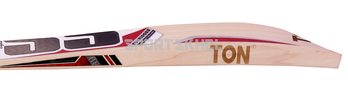 SS White Edition Red English Willow Cricket Bat Size Men Side View
