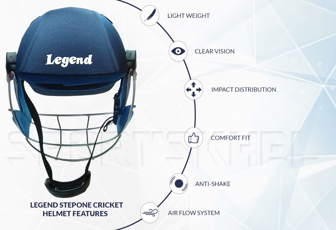 Legend Stepone Cricket Helmet Features