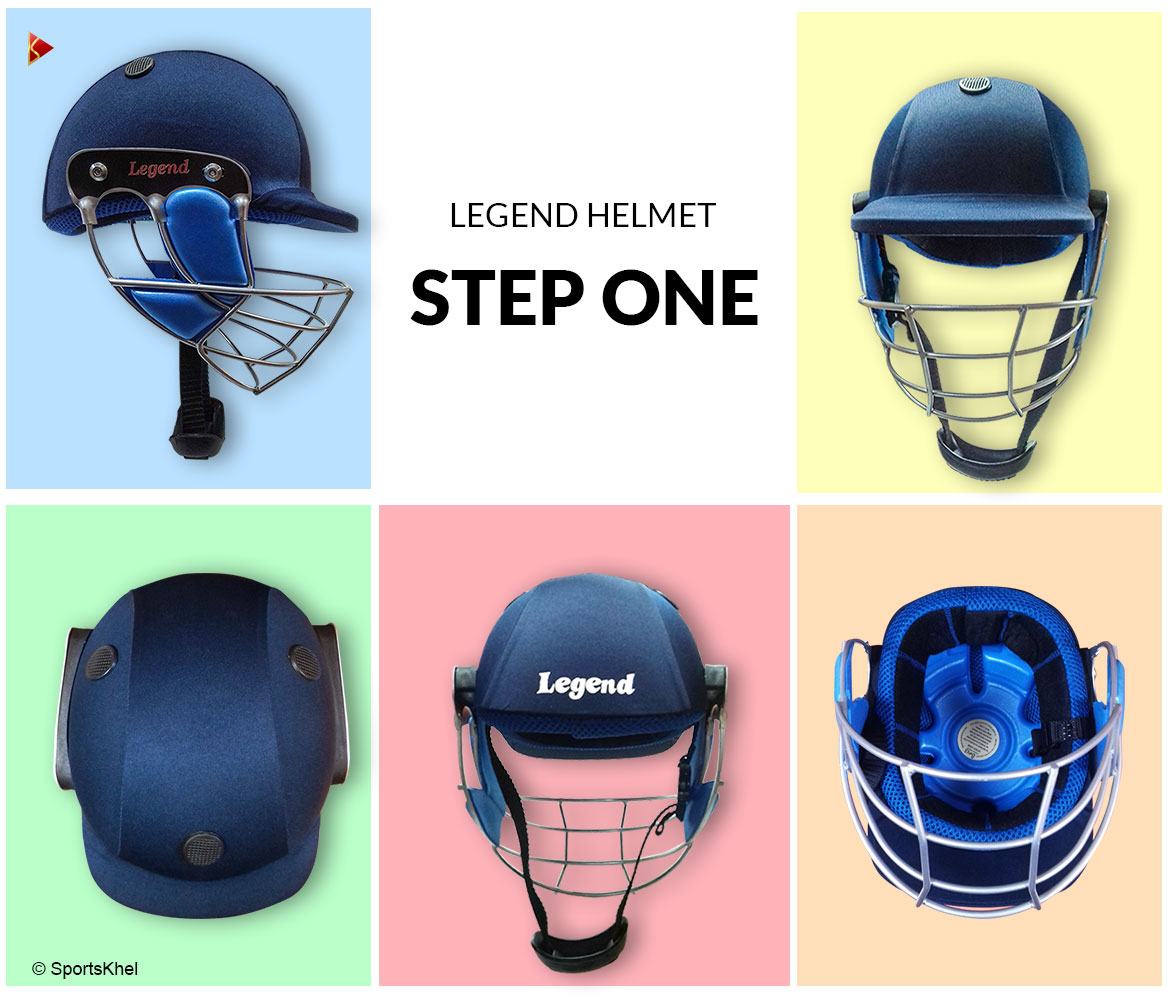 Legend Stepone Cricket Helmet Closeup Collection