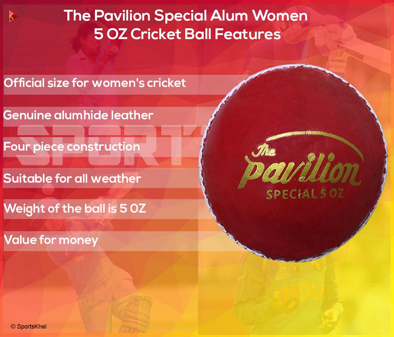 The Pavilion Special Alum Women 5 OZ Cricket Ball