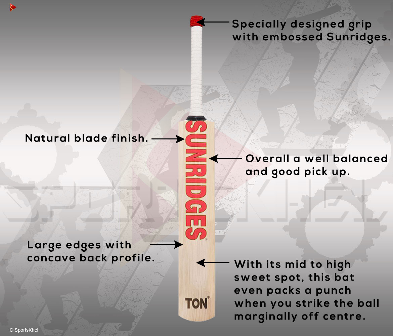 SS Ton Retro Classic Supreme Cricket Bat Features