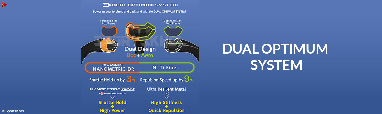 Yonex Duora 77 Badminton Racket Dual Optimum System